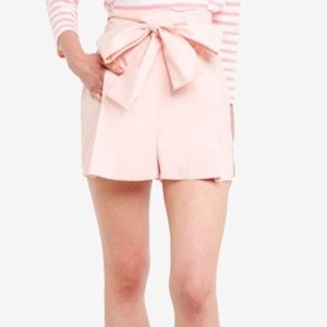 New! J. Crew high-waisted cotton tie-front shorts.